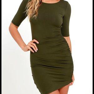 Olive green Lulus dress